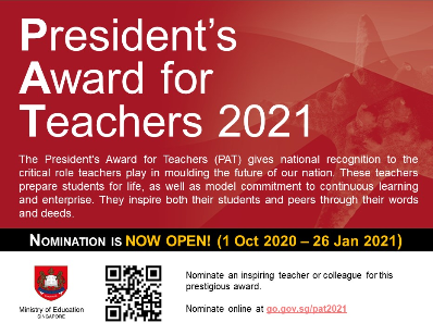 President's Award for Teachers 2021