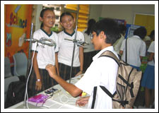 Secondary schools set up booths in our school to entice our students to their schools.jpg